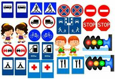Road Safety Poster, Safety Posters, People Who Help Us, Community Helpers, Traffic Light, Transportation Theme, Preschool Activities, Games For Kids, Childhood