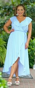 Island Time Dress - Blue & White