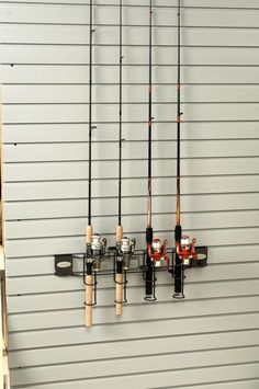 Is there a fisherman n your family?  Give them a place to store their rods neatly by adding a fishing rod holder to you garage slatwall.