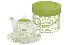 Paper Products Designs Tea For One Green Graphics Pot Mug Premium Tea, Coffee Store, Tea For One, Stainless Steel Mesh, Tea Infuser, Loose Leaf Tea, Herbal Tea, Tea Time, Tea Pots