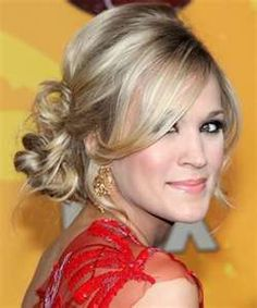 Bridesmaid hair-- Perfect Loose Low Bun Updo from Carrie Underwood Classy Updo Hairstyles, My Hairstyle, Pretty Hairstyles, Wedding Hairstyles, Hair Updo, Wedding Updo, Holiday Hairstyles, Hairstyle Ideas, Prom Updo