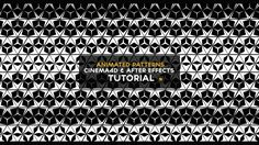 CINEMA4D TUTORIAL - How to make animated patterns (Cinema4D & After Effe...