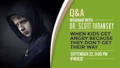 FREE WEBINAR with Dr. Scott Turansky. Anger is becoming a major issue in our society today. Parents want help for themselves and their children. Ask your questions and learn from someone who works with parents and children every week on this topic. #heartparenting http://on.fb.me/1ilDQp5