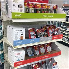 Command Strip takes command of an entire Endcap as Category Definition for Picture Hooks of all sorts and sizes for any and every use. Command Strips, Definitions