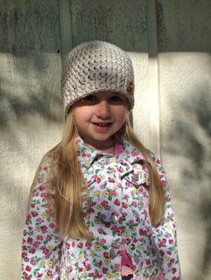 Button Beanie Hat by CreateAllCrochet on Etsy