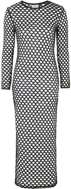 Womens black mesh maxi dress by escapology from Topshop - £38 at ClothingByColour.com