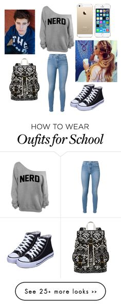 """""""School With Nash"""" by jackgilinsky143 on Polyvore featuring 7 For All Mankind, FingerPrint Jewellry and SM New York"""