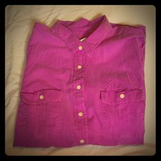 Gap fitted boyfriend shirt bright purple. NWT Gap fitted boyfriend shirt bright purple. XL size very cute.  make me an offer  no trades please. MS20 Old Navy Tops Button Down Shirts