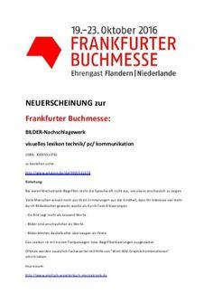 Neuveroeffentlichung Frankfurter Buchmesse Wort-Bild-Lexikon fuer Automatiker/ Mechatroniker/ Elektroniker