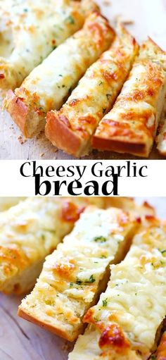 Easy Snacks, Quick Easy Meals, Bread Recipes, Cooking Recipes, Dinner Recipes, Dessert Recipes, Cheesy Garlic Bread, Rasa Malaysia, Healthy Food