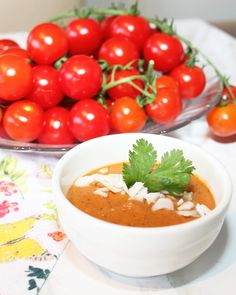 Roasted Tomato Eggplant & Red Pepper Soup - Fresh is Real    When you a craving a healthier cream of tomato soup… you must try this recipe! Made with coconut cream, so good!