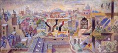 London roofs Ι, Oil painting, Nikos Hadjikyriakos-Ghika — at The Benaki Museum. Cubist Artists, The National, Benaki Museum, Greek Paintings, Tate Gallery, Byzantine Art, Greek Art, Art Database, Art For Art Sake