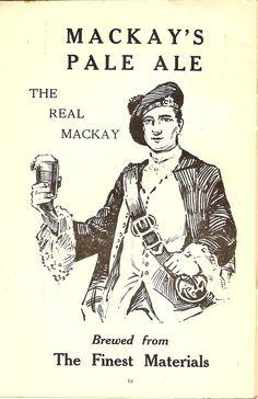 Mackay's of Edinburgh Pale Ale - advert, 1928