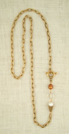 33″ Classic Necklace in Brushed Gold - Ex Voto Vintage - Mountain Brook Village
