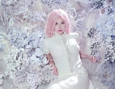 Elizabeth Olsen's Pink-Haired, Dream-Like Fashion Spread