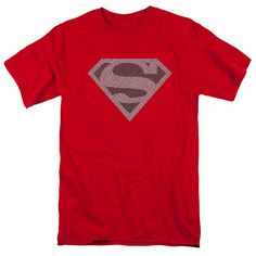Superman/Elephant Shield Short Sleeve Adult T-Shirt 18/1 in