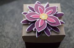 Mini-Box, verziert mit Flower Patch  Patricia Stich, Unabh. Stampin´Up! Demonstratorin