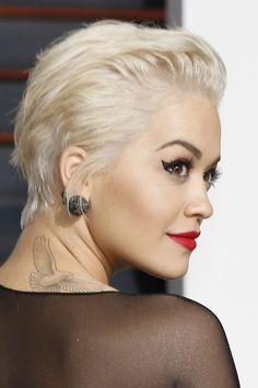 20 Fresh Comb Back Hairstyle Gallery, # Short Slicked Back Hair, Short Hair Cuts, Short Hair Styles, Style Short Hair Pixie, Latin Hairstyles, Slick Hairstyles, Rita Ora, Edges Hair, Ballroom Hair