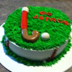 Field hockey cake.... this would be the best birthday cake EVER
