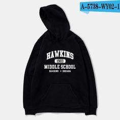 Stranger Things Season 3 Sweatshirt Tv Series Hoodie Oversized Casual Winter Hoodies, black / XXS