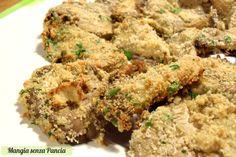 I funghi gratinati saporiti sono molto facili da preparare e il risultato è un contorno vegetariano croccante e sfizioso.