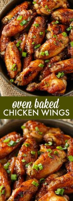 Oven Baked Chicken Wings The BEST wing recipe ever! Juicy chicken wings are oven baked in a flavorful honey garlic sauce. - Oven Baked Chicken Wings - The BEST wing recipe ever! Juicy chicken wings are oven baked in a flavorful honey garlic sauce. Cooking Recipes, Healthy Recipes, Oven Recipes, Easy Recipes, Light Recipes, Best Chicken Recipes, Recipe Chicken, Recipes For Chicken Wings, Garlic Recipes
