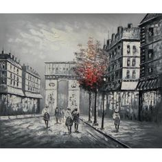 With elegant architecture and a splash of color, this timeless canvas art piece examines everyday life in the streets of Paris.