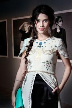 Astrid Berges-Frisbey...love the detailed top