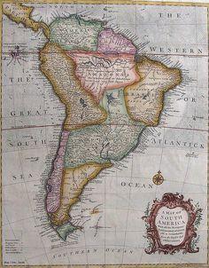 Antique Map of South America                                                                                                                                                                                 Mais