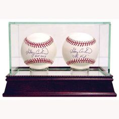 Official Website High Quality 9 Baseball Glass Display Case For Autographed Balls Little League A Wide Selection Of Colours And Designs Autographs-original Display Cases