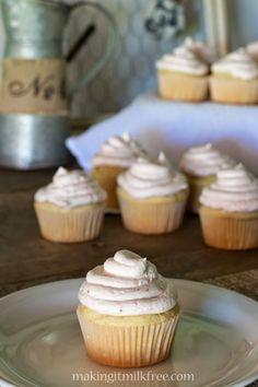 Strawberry Lemonade Cupcakes by Making it Milk-free