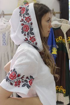 Modern Ukrainian outfit with traditional embroidered elements, Элементы… Folk Fashion, Ethnic Fashion, Womens Fashion, Ukraine, Mode Mori, Ethno Style, Embroidered Clothes, Embroidery Fashion, Sport Chic