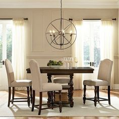 Baxton Studio Zachary Chic French 5 Piece Square Counter Height Dining Table Set - DC18836P 5PC PUB SET