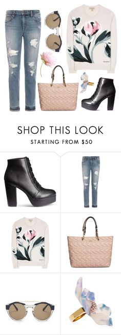 """Free Days"" by hiddensoulmemories ❤ liked on Polyvore featuring Joe's Jeans, Burberry, Karl Lagerfeld, Marni and Lele Sadoughi"