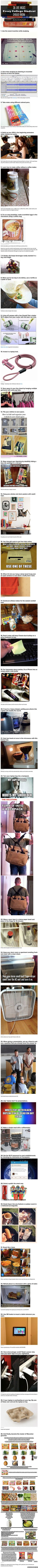 36 Life Hacks Every College Student Should Know Pictures, Photos, and Images for Facebook, Tumblr, Pinterest, and Twitter