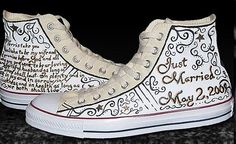 Custom Wedding Shoes. Personalized Converse. by UnderBuddhasBed, $75.00
