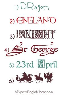 Fun Medieval fonts for parties, children's crafts or St George's Day celebrations. of course, I found this the day after I finished my daughter's princess party invites.