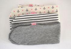 Baby Haarband gestreift von mien BABYmien // Stillschals und Kuscheliges für Dich und Dein Baby auf DaWanda.com