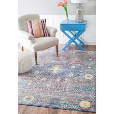 nuLOOM Traditional Intricate Persian Purple Rug (5'3 x 7'7) | Overstock.com Shopping - The Best Deals on 5x8 - 6x9 Rugs