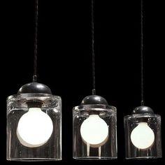 1950's glass pendant light fixtures, modern, retro kitchen, minimalist