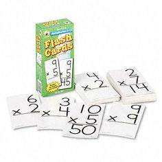 Multiplication Facts 0-12 Flash Cards w/Round Corners - Two-Sided, 6x3, 94/Pack(sold in packs of 3) by Carson-Dellosa. $21.98. Multiplication Facts 0-12 Flash Cards w/Round Corners - Two-Sided,  6x3,  94/Pack(sold in packs of 3)
