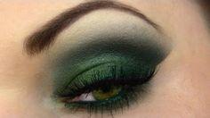 Yeşil Dumanlı Göz Makyajı Uygulaması - Özel günler yada gece için yapabileceğiniz kolay ve hoş yeşil dumanlı göz makyajı tekniği (Green Smokey Eyes Makeup Video)