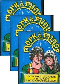 Items similar to Mork and Mindy Vintage 1978 Unopened 3 Packs of cards on Etsy Kickin It Old School, Mork & Mindy, 70s Tv Shows, Amazing Man, Advertising And Promotion, Robin Williams, Old Tv, Back In The Day, Bubble Gum