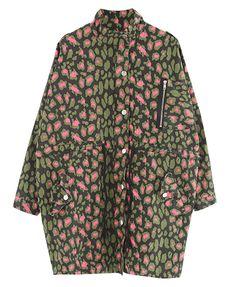 Loose Fit Camo Leopard Coat