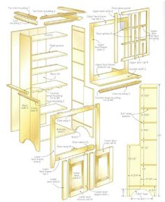 Woodworking plan for cup board. Complete woodworking plans with detail descriptions can be found on my website: www.tedswoodworkplans.com