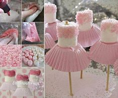 How to DIY Adorable Marshmallow Ballerina Treats - Creative Ideas - Baby Shower Ideas Little Girl Birthday, Baby Birthday, First Birthday Parties, First Birthdays, Birthday Ideas, Birthday Cupcakes, Marshmallow Pops, Cute Marshmallows, Ballerina Birthday