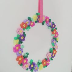 Flower wreath hama beads by homemade_by_lund