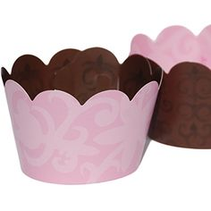 Confetti Couture Party Supplies 36 Dessert Skirtz Reversible Cupcake Wrappers for Bakery Packaging and Decoration, Pink Floral and Brown Damask Pattern Confetti Couture Party Supplies http://www.amazon.com/dp/B015HQEGDI/ref=cm_sw_r_pi_dp_CjZZwb0BP1341