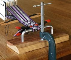 """This is it! Most of you are capable of building this card weaving """"loom"""" and it won't cost you more than $5."""