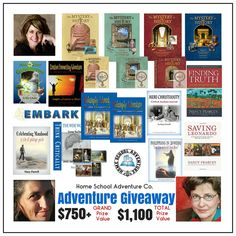 Adventure homeschool giveaway. Grand prize value over $750! Mystery of History, North Star Geography, Philosophy Adventures, Mere Christianity Critical Analysis Journal and so much more! http://www.yellowhousebookrental.com/pages/specials-and-contests?utm_content=bufferdec6a&utm_medium=social&utm_source=pinterest.com&utm_campaign=buffer